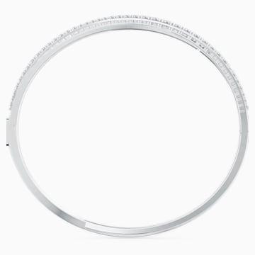 Twist Rows Armband, weiss, rhodiniert - Swarovski, 5572726