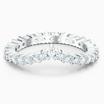 Vittore-V-ring, Wit, Rodium-verguld - Swarovski, 5572815