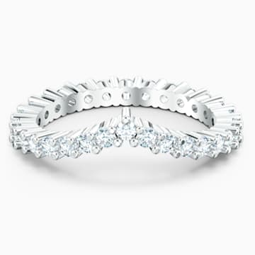 Vittore V Ring, weiss, rhodiniert - Swarovski, 5572816