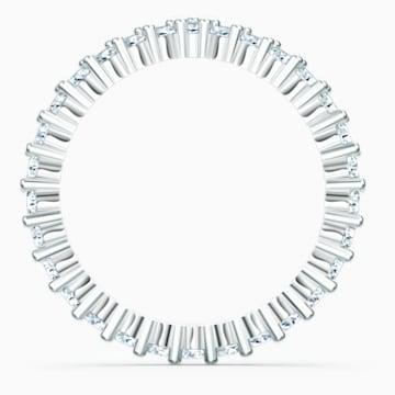 Vittore V-alakú gyűrű, fehér, ródium bevonattal - Swarovski, 5572817
