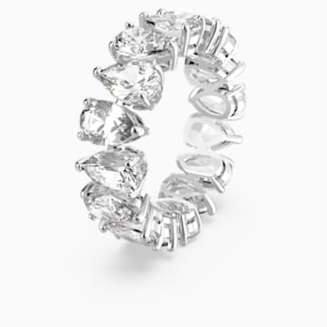 Vittore Pear Ring, White, Rhodium plated - Swarovski, 5572824