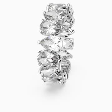 Vittore Pear Кольцо, Белый Кристалл, Родиевое покрытие - Swarovski, 5572825