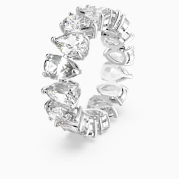 Vittore Pear Ring, weiss, rhodiniert - Swarovski, 5572826