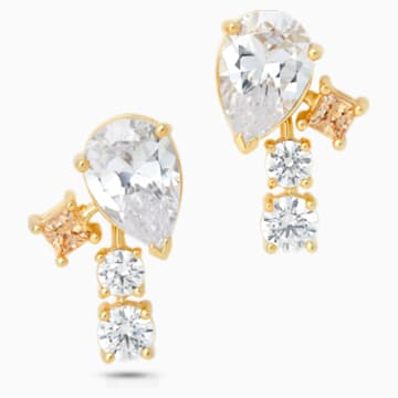 Penélope Cruz Icons of Film Stud Pierced Earrings, Yellow, Gold-tone plated - Swarovski, 5572835