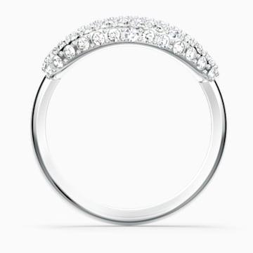The Elements Air Ring, White, Rhodium plated - Swarovski, 5572877