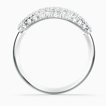 The Elements Air Ring, White, Rhodium plated - Swarovski, 5572878