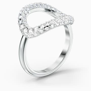 The Elements Air Ring, White, Rhodium plated - Swarovski, 5572878