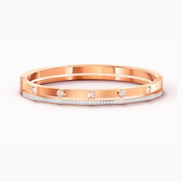 Thrilling Armreif, weiss, Rosé vergoldet - Swarovski, 5572914