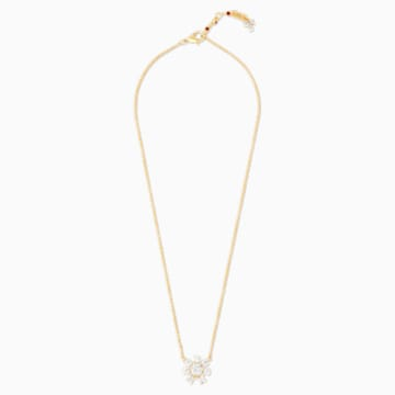 Penélope Cruz Icons of Film Flower Necklace, White, Gold-tone plated - Swarovski, 5573961