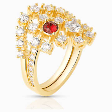 Icons of Film Ring, Red, Gold-tone plated - Swarovski, 5573962