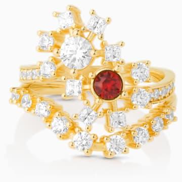 Penélope Cruz Icons of Film Ring, Red, Gold-tone plated - Swarovski, 5573963