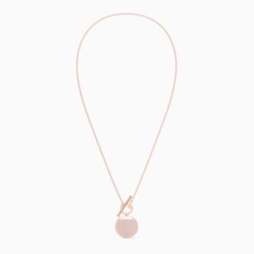 Set Ginger închizătoare în T, alb, placat în nuanță aur roz - Swarovski, 5574915