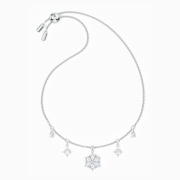 Magic Armband, weiss, rhodiniert - Swarovski, 5576695