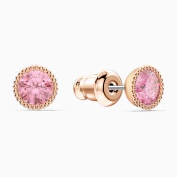 Togetherness Lock 套装, 粉红色, 镀玫瑰金色调 - Swarovski, 5577010