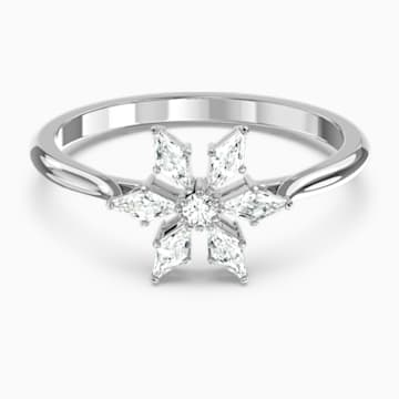 Anello Magic, bianco, placcato rodio - Swarovski, 5578446