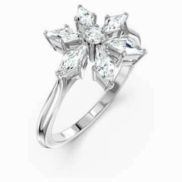 Δαχτυλίδι Magic, λευκό, επιροδιωμένο - Swarovski, 5578446