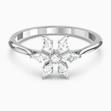 Δαχτυλίδι Magic, λευκό, επιροδιωμένο - Swarovski, 5578447
