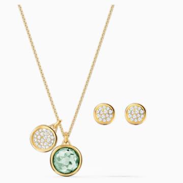 Set Tahlia, verde, placcato color oro - Swarovski, 5579789
