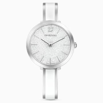 Crystalline Delight Watch, Metal Bracelet, White, Stainless Steel - Swarovski, 5580537
