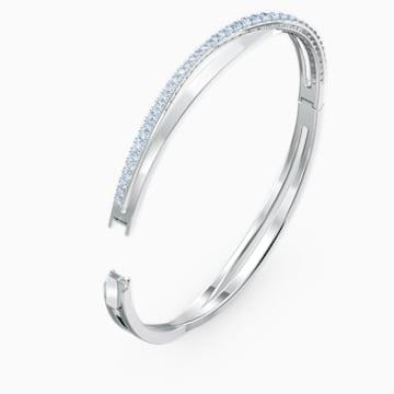 Twist Rows Armband, blau, rhodiniert - Swarovski, 5584648