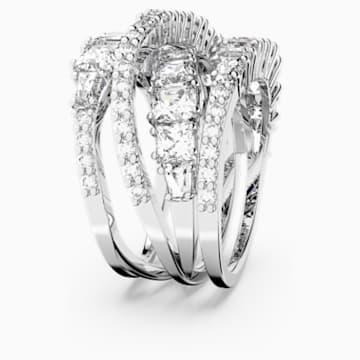 Twist Wrap 戒指, 白色, 镀铑 - Swarovski, 5584654