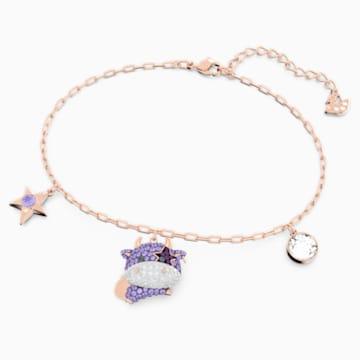 Little Bracelet, Violet, Rose-gold tone plated - Swarovski, 5599156