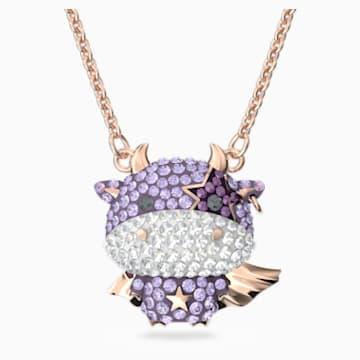 Little 链坠, 紫罗兰, 镀玫瑰金色调 - Swarovski, 5599162