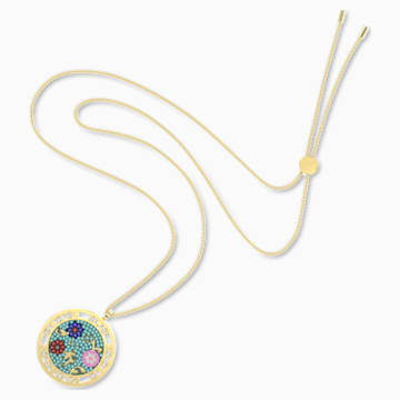 Flower of Fortune Gem Pendant, Flower, Multicolor, Gold-tone plated - Swarovski, 5599273