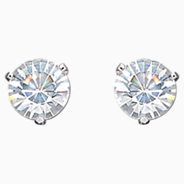 Solitaire Pierced Earrings - Swarovski, 861325