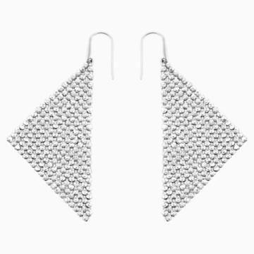 Boucles d'oreilles Fit, gris, Métal rhodié - Swarovski, 976061