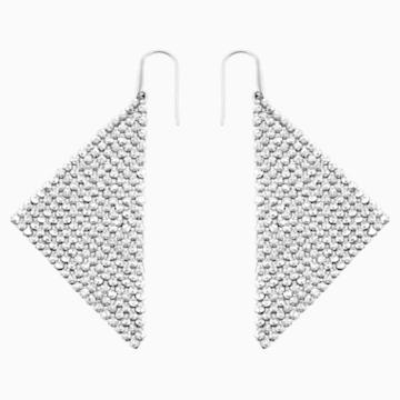 Fit Pierced Earrings, Gray, Rhodium plated - Swarovski, 976061