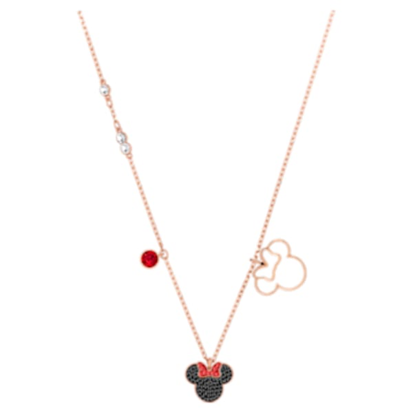 Mickey & Minnie Pendant, Multi-colored, Rose-gold tone plated ...