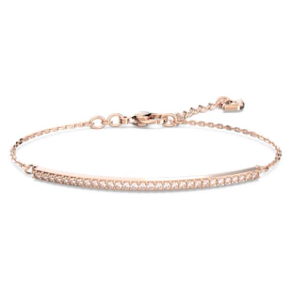 Only Bracelet, White, Rose-gold tone plated | Swarovski.com