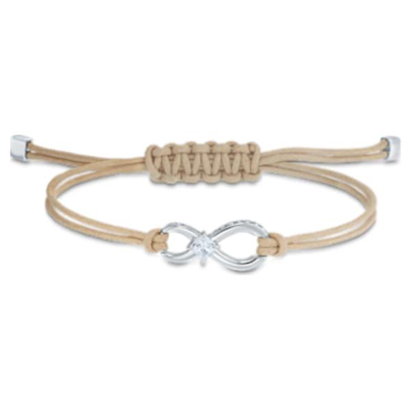 Swarovski Infinity Bracelet, Beige, Rhodium plated | Swarovski.com