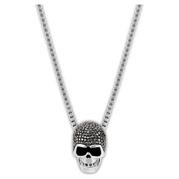 Pendentif Taddeo Skull, noir, Finition mix de métal - Swarovski, 1180839