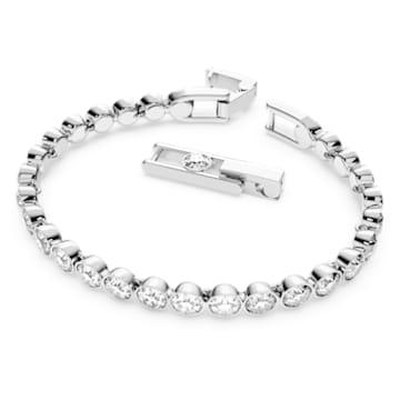 Tennis 브레이슬릿, 라운드, 화이트, 로듐 플래팅 - Swarovski, 1791305