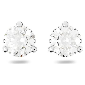 Solitaire Серьги, Белый Кристалл, Родиевое покрытие - Swarovski, 1800046