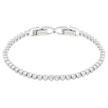 Emily bracelet, White, Rhodium plated - Swarovski, 1808960