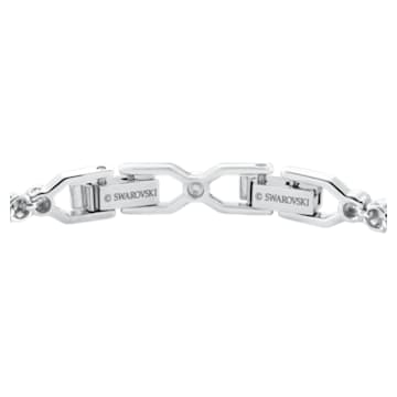 Emily-armband, Wit, Rodium-verguld - Swarovski, 1808960