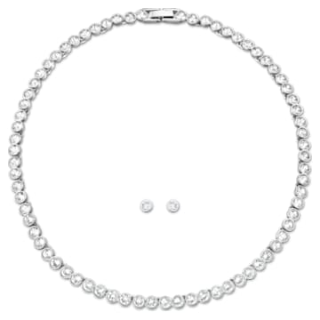 Tennis-set, Wit, Rodium-verguld - Swarovski, 5007747