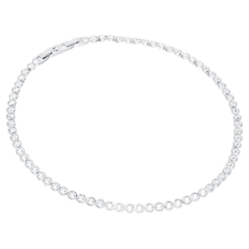 Set Tennis, bianco, Placcatura rodio - Swarovski, 5007747