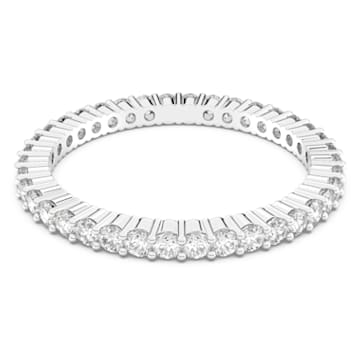 Vittore Ring, White, Rhodium Plating - Swarovski, 5007780