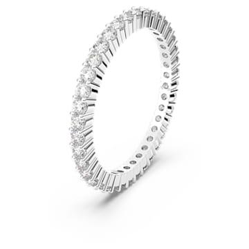 Vittore Кольцо, Белый, родиевое покрытие - Swarovski, 5007781