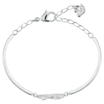 Swan-armband, Wit, Rodium-verguld - Swarovski, 5011990