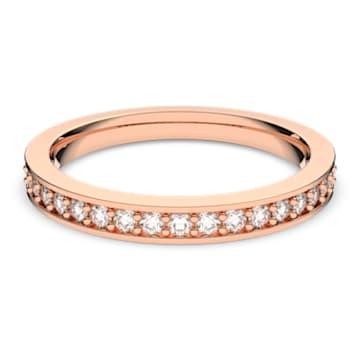 Inel Rare, alb, placat în nuanță aur roz - Swarovski, 5032899