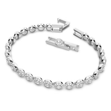 Angelic 手鏈, 球形切割, 白色, 鍍白金色 - Swarovski, 5071173