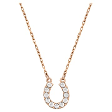 Towards 項鏈, 馬蹄鐵, 白色, 鍍玫瑰金色調 - Swarovski, 5094964