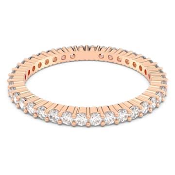 Prsten Vittore, bílý, pozlacený růžovým zlatem - Swarovski, 5095329