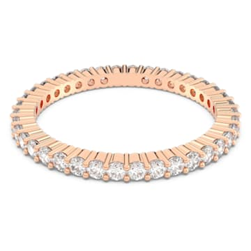 Vittore Кольцо, Белый Кристалл, Покрытие оттенка розового золота - Swarovski, 5095330