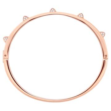 Tactic Жёсткий браслет, Белый Кристалл, Покрытие оттенка розового золота - Swarovski, 5098368